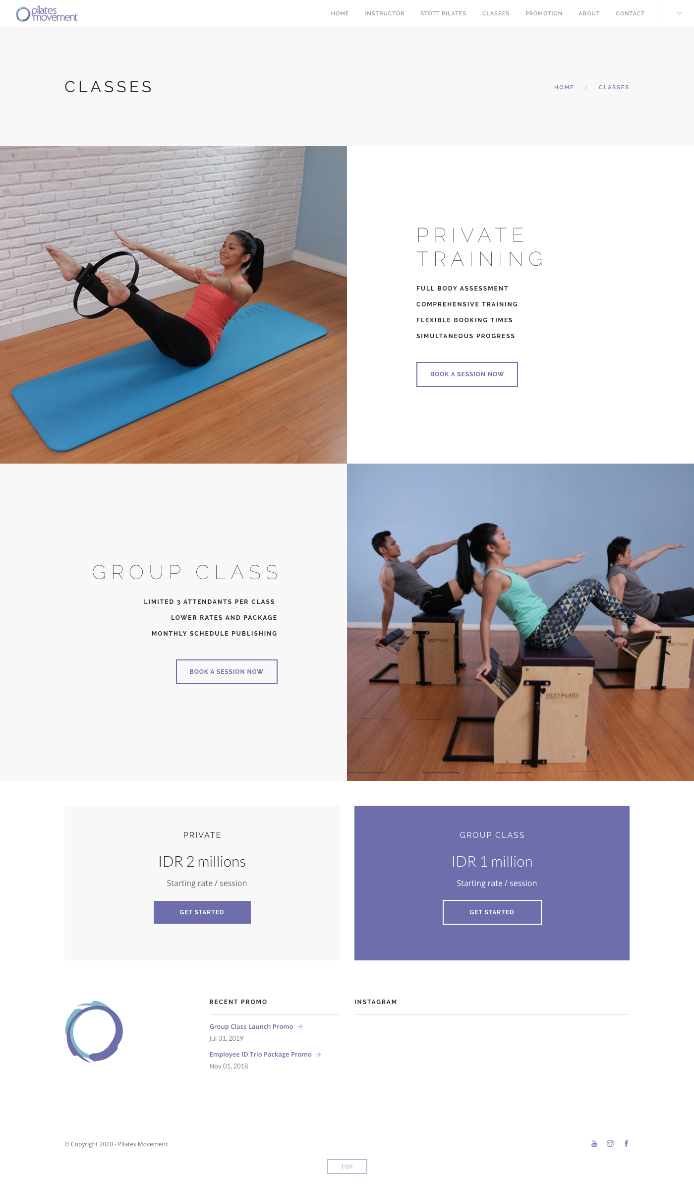 Pilates Movement